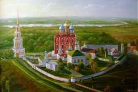 Вид на Рязанский Кремль.
