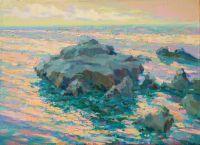 Скалы Алупки.Летний дождь над морем.