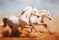 Белые лошади.худ.Р.Смородинов
