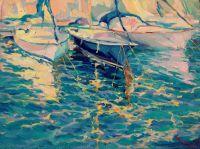 Каталония.Яхты в Пинеда де Мар.