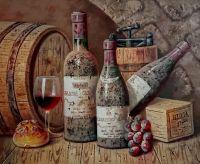 Натюрморт с вином.худ.Р.Смородинов