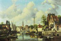 Голландский пейзаж с видом на канал.