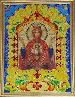 Оклад к иконе Богородицы