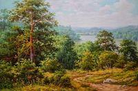 лесной пейзаж.худ.Р.Смородинов