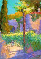 Испания. Жирона. Высокая пальма