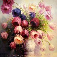 Прекрасные тюльпаны.худ.А.Джанильятти