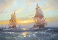 Эскадра в море