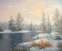 Снежный пейзаж.худ.Р.Смородинов