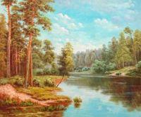 Речной пейзаж.худ.Р.Смородинов
