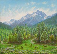 У синих гор
