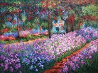 Ирисы в саду.копия К.Моне.худ.А.Бруно