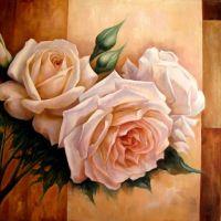 Нежные розы.худ.Р.Смородинов