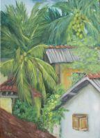 Этюд под пальмами