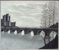 Вид на замок с мостом