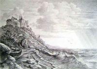 Замок на морском берегу.