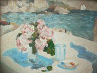 На берегу моря. Копия К.А.Коровин 1910 г