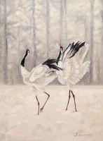Снежный танец Журавлей
