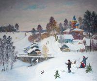 Деревня Передки. Зима