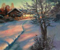 Зимний вечер. Снегири
