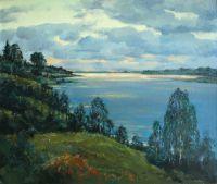 Вечер над озером, Карелия