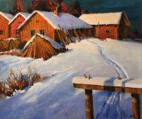 Зима, снегири