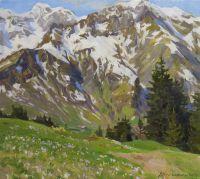 Крокусы у горы Хочберг