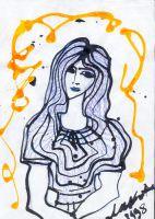 Девушка с золотистыми мыслями