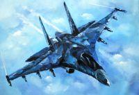 Су-35. Картина Хосе Родригеса
