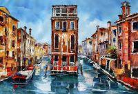 Каналы Венеции. Картина Хосе Родригеса