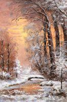 Зимний пейзаж. Вдоль незамерзающего ручья (N2)