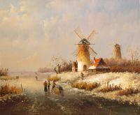 Голландский пейзаж. Зима. N05 (Автор А.Ромм)
