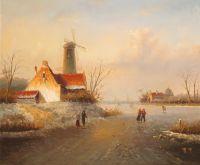 Голландский пейзаж. Зима. N09 (Автор А.Ромм)