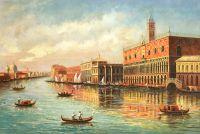 Гранд-канал. Вид на Дворец Дожей. Худ. А.Ромм