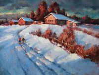 Зимняя дорога в Красном