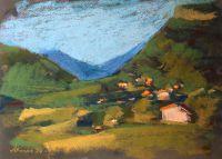Вечерний вид долины