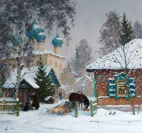 Каргопольский дворик. Лошадка