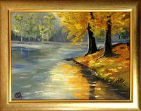 Золотая осень. Лесное озеро