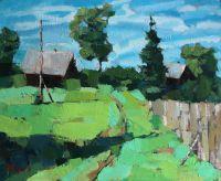 Лужайка в деревне