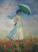 Копия Моне Дама с зонтиком
