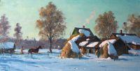 Деревня Лядины зимой