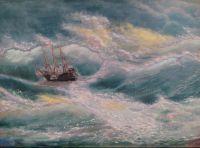 каравелла среди волн