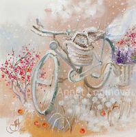 Snow bicycle