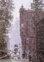 Раннее утро в Петербурге