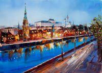 Вид на Кремль с Софийской набережной