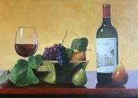 Фрукты и калифорнийское вино Chateau Montelena