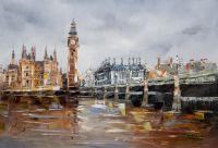 Лондон. Биг-Бен и Вестминстерский мост