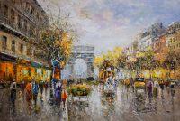 Пейзаж Парижа Антуана Бланшара Champs Elysees, Arc de Triomphe (копия Кристины Виверс)