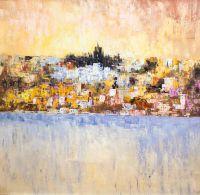 Розовый рассвет на Средиземноморье
