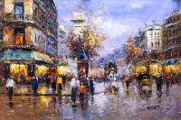Париж. Улица Сен-Дени (Вольная копия К.Виверс картины Антуана Бланшара)