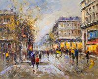 Пейзаж Парижа Антуана Бланшара Les grands boulevards